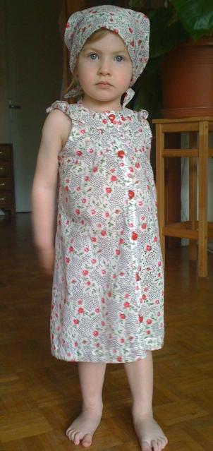 robe fillette dans tissu Les Fées