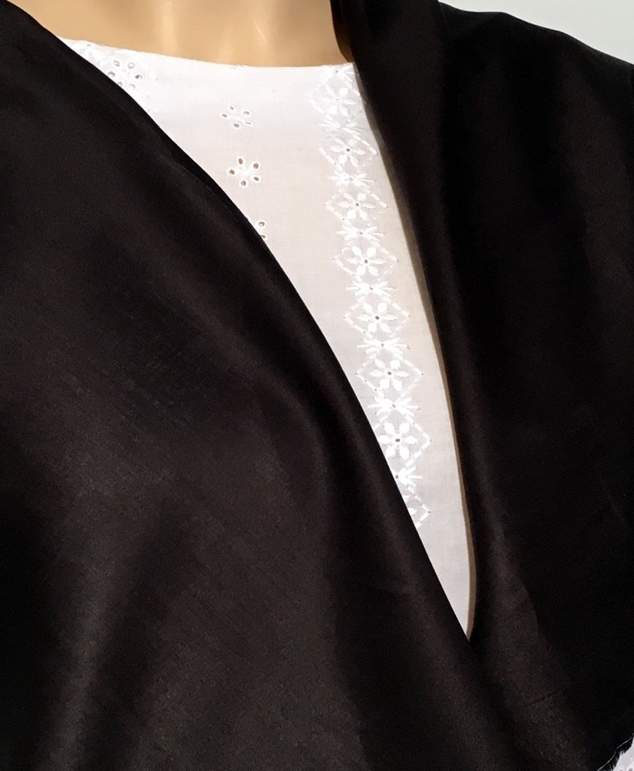 Tissu au m tre r f 110286 voile uni noir en coton et viscose s r tissu 110286 100 site de - Voile de forcage au metre ...
