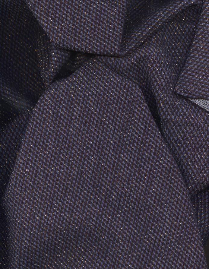 tissu au m tre r f 280275 maille acrylique coloris bleu saphir et lurex cuivre deveaux tissu. Black Bedroom Furniture Sets. Home Design Ideas